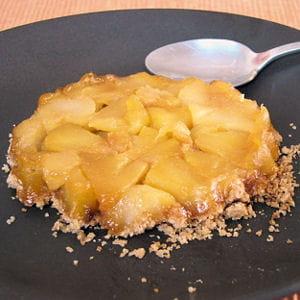 mini crumbles renversés aux pommes et poires