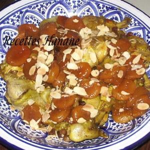tajine de poulet aux abricots caramélisés