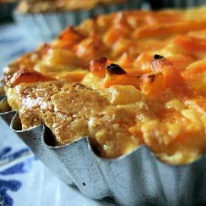 petits clafoutis carottes maïs
