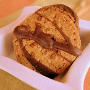 cookies céréaliers et praliné
