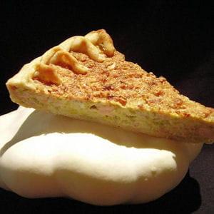 tarte andouillette et poireaux