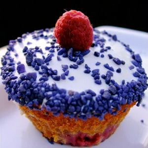 cupcakes framboise violette