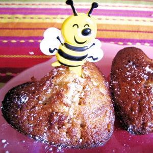 petits cakes au miel et noix de pécan