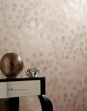 fleurs de pissenlits papier peint habillez vos murs journal des femmes. Black Bedroom Furniture Sets. Home Design Ideas