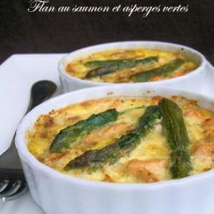 flan au saumon et aux asperges vertes