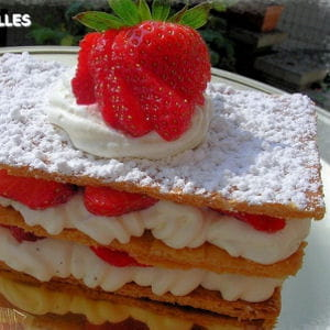 millefeuille fraises-chantilly