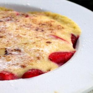 gratin de fruits rouges au sabayon de champagne