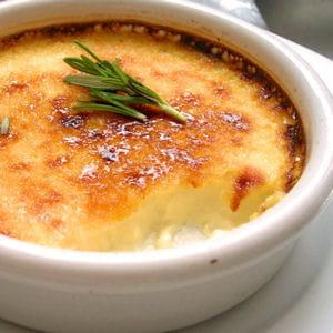 crème brûlée au romarin et au miel