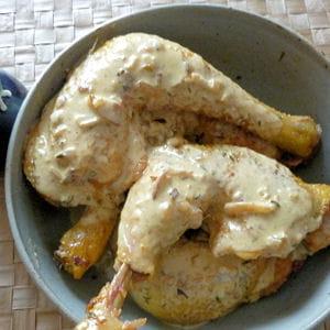 cuisses de poulet à la moutarde