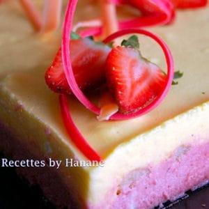 bavarois fraise-mangue