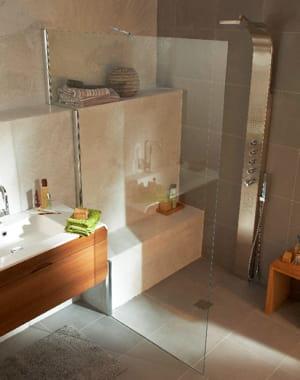 Sur mesure douche l 39 italienne l gance dans la salle - Porte de douche sur mesure castorama ...