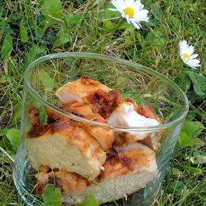 bouchées de poulet au pain d'épice