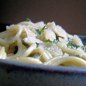 pasta à la crème de courgettes