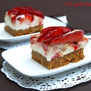 carrés aux fraises et au mascarpone