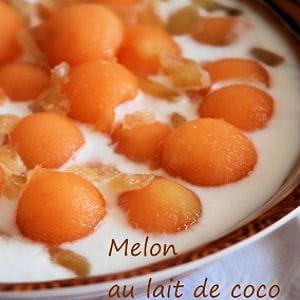 melon au lait de coco