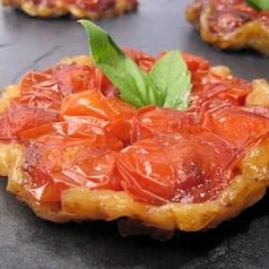 mini tatin de tomate au balsamique