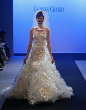 La robe de mari e florale for Prix de robe de mariage en or georges chakra