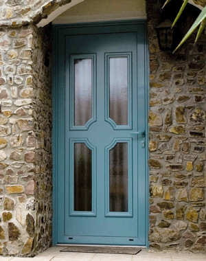 Bleu ciel une porte pour mon entr e journal des femmes - Prix porte entree tryba ...