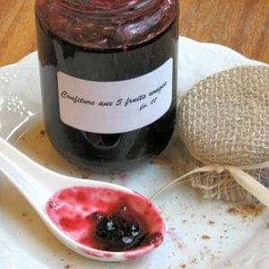 confiture aux 5 fruits rouges