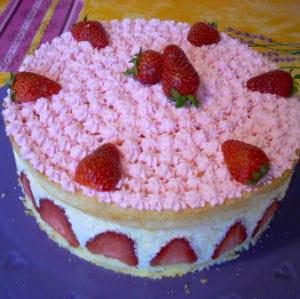fraisier au mascarpone léger comme une mousse