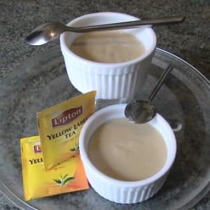 crèmes au thé et à l'arôme d'orange