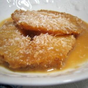 ananas au caramel de lait de coco