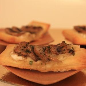 mini-feuilletés camembert et champignon