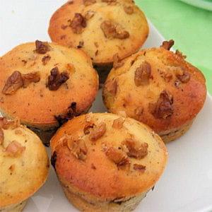 muffins au confit de canard et aux noix