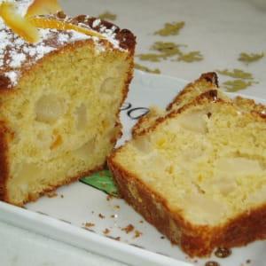 cake aux poires et écorces de clémentines