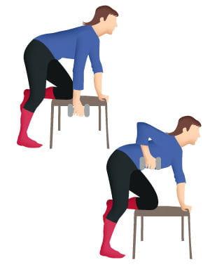 pour le muscle dorsal 10 exercices faciles pour se muscler le dos journal des femmes. Black Bedroom Furniture Sets. Home Design Ideas