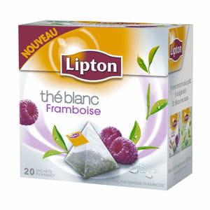 thé blanc framboise