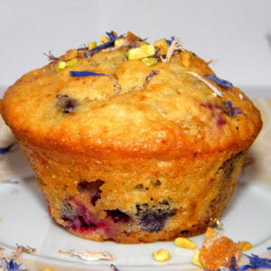 muffins chocolat blanc et fruits rouges