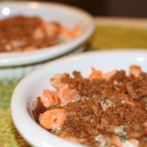 crumble au saumon