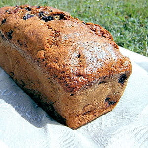 cake banane-myrtilles