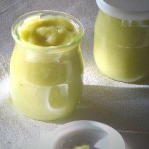 crème de citron vert au lait de coco