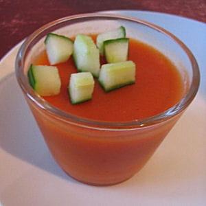verrines de gaspacho en gelée