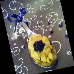 cuillères de caviar flambées à la russe