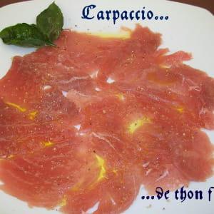carpaccio de thon frais