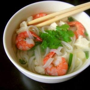pho aux crevettes et tofu express