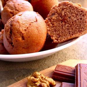 muffins pralinoise aux éclats de noix