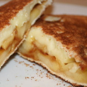 croque camembert, pommes et calvados