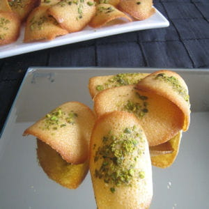 tuiles orange-pistache