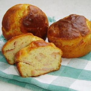 muffins au jambon et au parmesan