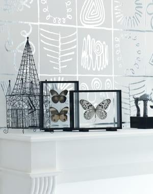 papier peint motifs fa on bijoux ethniques d 39 elitis. Black Bedroom Furniture Sets. Home Design Ideas