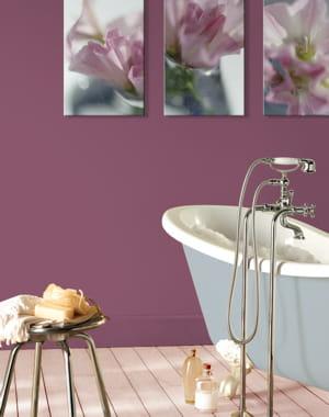 peinture acrylique violette de v33 et si on. Black Bedroom Furniture Sets. Home Design Ideas
