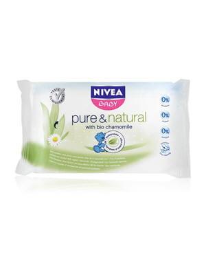 les lingettes pure & natural de nivea baby