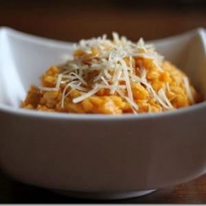risotto au potimarron et poulet