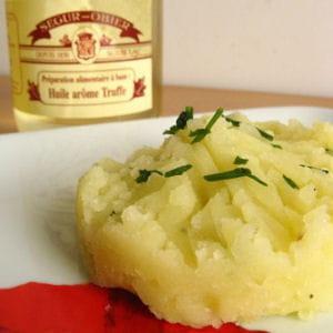 ecrasé de pomme de terre à l'huile de truffes