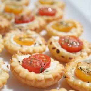 mini tartelettes aux tomates cerises et au chèvre
