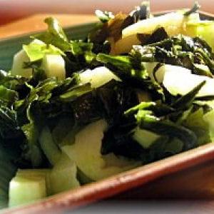 salade d'algues et concombre